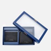 Polo Ralph Lauren Men's Pebble Leather Wallet and Credit Card Holder Set - Black