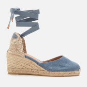 Castañer Women's Carina Wedged Espadrille Sandals - Jeans