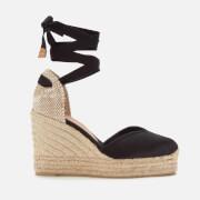 Castañer Women's Chiara Platform Wedged Espadrille Sandals - Black