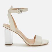 MICHAEL MICHAEL KORS Women's Petra Ankle Strap Block Heeled Sandals - Light Cream