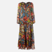 RIXO Women's Lori Maxi Dress - Woodstock With Lurex