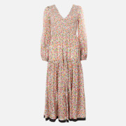 RIXO Women's Brooke Maxi Dress - Retro Micro Floral