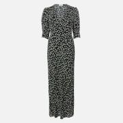 RIXO Women's Zadie Midi Dress - Ditsy Floral - Black Cream