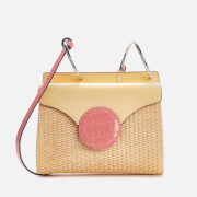 Danse Lente Women's Mini Phoebe Shoulder Bag - Lemon/Watermelon Croc