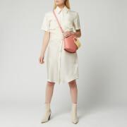 Victoria, Victoria Beckham Women's Patch Pocket Shirt Dress - Ecru