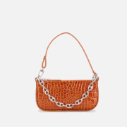 by FAR Women's Mini Rachel Croco Shoulder Bag - Tan