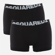 Dsquared2 Men's 2 Pack Slant Logo Boxer Shorts - Black