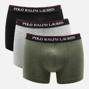 Polo Ralph Lauren Men's 3 Pack Trunk Boxer Shorts - Black/Andover Heather/Moss Green
