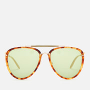 Gucci Men's Aviator Sunglasses - Havana/Gold/Green