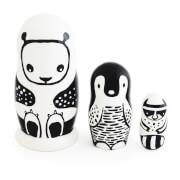 Wee Gallery Nesting Dolls - Black/White