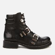 Sophia Webster Women's Ziggy Leather Biker Boots - Black