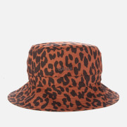 Ganni Women's Leopard Print Cotton Poplin Bucket Hat - Toffee