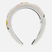 Ganni Women's Padded Beaded Hairband - Egret