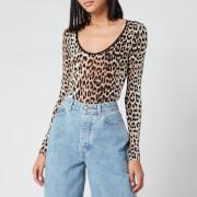 Ganni Women's Printed Body - Leopard