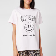 Ganni Women's Basic Cotton Logo T-Shirt - Cherry Blossom