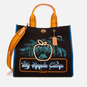 Coach 1941 Women's Skyline Big Apple Camp Canvas Tote Bag 34 - Black