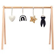 The Little Green Sheep Wooden Baby Play Gym and Charms Set - Rainbow Midnight
