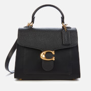 Coach Women's Mixed Leather Tabby Top Handle 20 Bag - Black