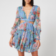 Zimmermann Women's Bellitude Floating Cut Out Dress - Cornflower Floral