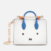 Strathberry X Miffy Women's Face Miniature Tote - White/Cobalt/Maple