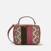 Kate Spade New York Women's Vanity Spade Flower Jacquard Stripe Mini Top Handle Bag - Pink Multi