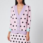 Olivia Rubin Women's Cecily Cardigan - Pink/Black Polka Dot