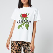 Ganni Women's Rose T-Shirt - White