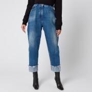 Balmain Women's Vintage Boyfriend Jeans - Blue