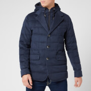 Herno Men's Quilted Blazer Jacket - Navy
