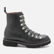 Grenson Women's Nanette Snake Print Hiking Style Boots - Black