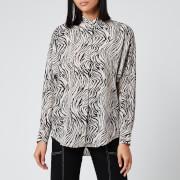 Isabel Marant Women's Cade Printed Shirt - Ecru/Black