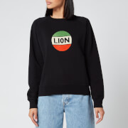 Bella Freud Women's Lion Badge Flock Sweatshirt - Black/Multi