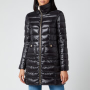 Herno Women's Maria Iconic Long Quilted Fitted Coat - Nero