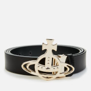 Vivienne Westwood Women's Belts Line Orb Buckle Light Gold - Black