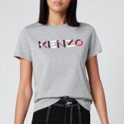 KENZO Women's Classic Fit T-Shirt KENZO Logo - Pearl Grey