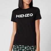 KENZO Women's Classic Fit T-Shirt KENZO Logo - Black