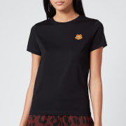 KENZO Women's Classic Fit T-Shirt Tiger Crest - Black