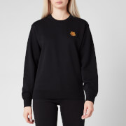 KENZO Women's Classic Fit Sweatshirt Tiger Crest - Black