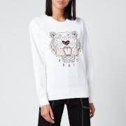 KENZO Women's Icon Classic Tiger Sweatshirt - White