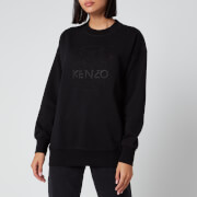 KENZO Women's Embossed Loose Sweatshirt - Black