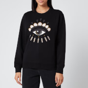 KENZO Women's Icon Classic Sweatshirt Eye - Black