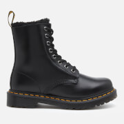 Dr. Martens Women's 1460 Serena Fur Lined Leather 8-Eye Boots - Dark Grey