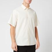 KENZO Men's Casual Short Sleeve Shirt - Ecru