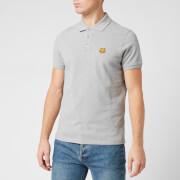 KENZO Men's Tiger Crest Pique Polo Shirt - Pearl Grey