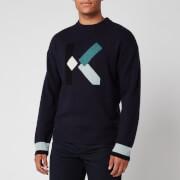 KENZO Men's K Wool Jumper - Navy Blue
