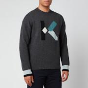 KENZO Men's K Wool Jumper - Dark Grey