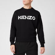 KENZO Men's Bi-Colour Logo Sweatshirt - Black