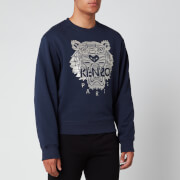 KENZO Men's Stitched Tiger Sweatshirt - Navy Blue