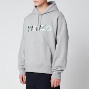 KENZO Men's Multicolour Logo Hoodie - Pearl Grey