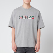 KENZO Men's Multicolour Logo T-Shirt - Pearl Grey